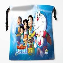 High quality Custom Doraemon printing storage bag drawstring bag gift Satin bags 27x35cm Compression Type Bags
