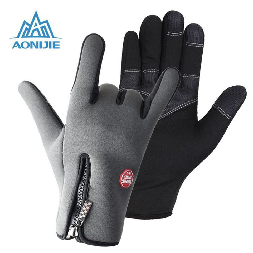 Mens leather gloves rei - Aonijie Waterproof Screen Outdoor Sports Hiking Gloves Cycling Gloves Bicycle Motorcycle Long Finger Mens Women