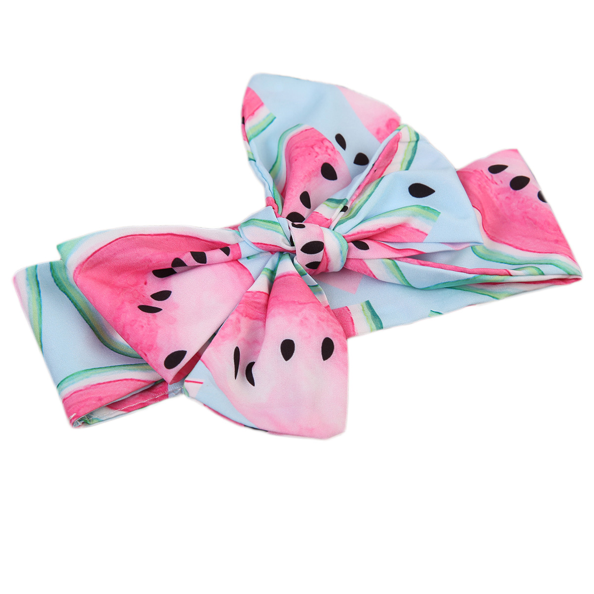 Cute Kids   Headwear   Newborn Cotton Bow Friut Watermelon Hair Bands Kids Headband Stretch Turban Knot Head Wrap Hair Bands Hair