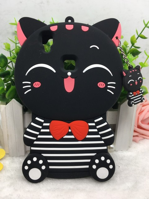 more photos 8e623 295c9 US $3.38 |For VIVO Y53 Hot 3D Cute Cartoon Silicon lucky stripe cat Soft  Back Cover Phone Cases on Aliexpress.com | Alibaba Group