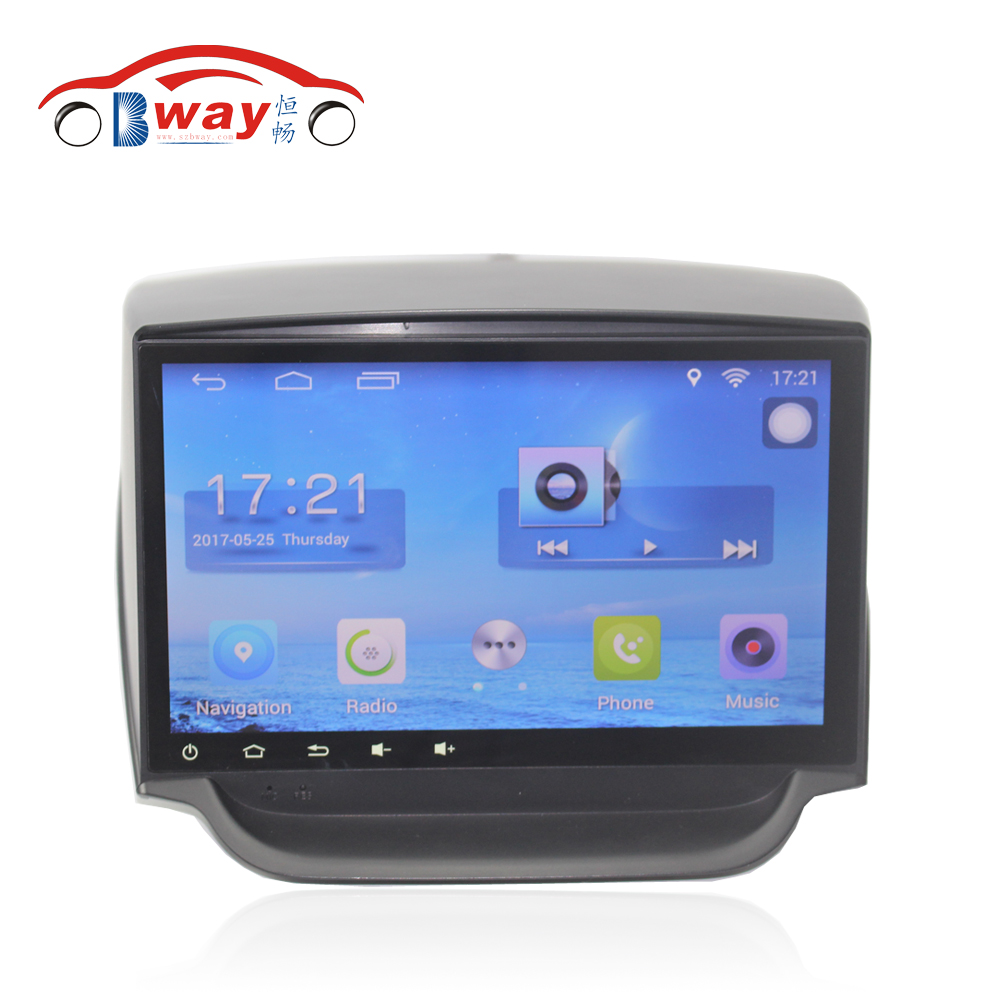Bway 9 Quad core car radio gps navigation for 2013 Ford Ecosport android 7.0 car DVD video player with Wifi,BT,SWC