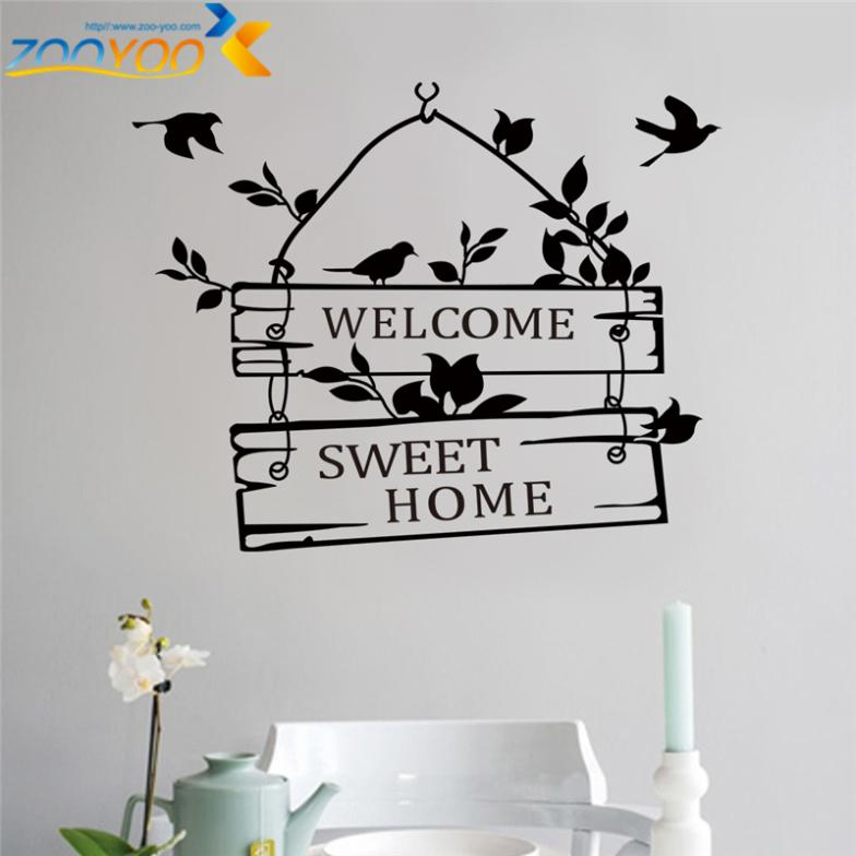 welcome to our home quote wall decals 8181 decorative adesivo de