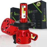 Super Bright Car LED Headlight Kit H4 H13 9007 Hi/Lo H7 H11 9005 9006 60w/ XHP50 Chips Replacement Bulbs 3000K 4300K