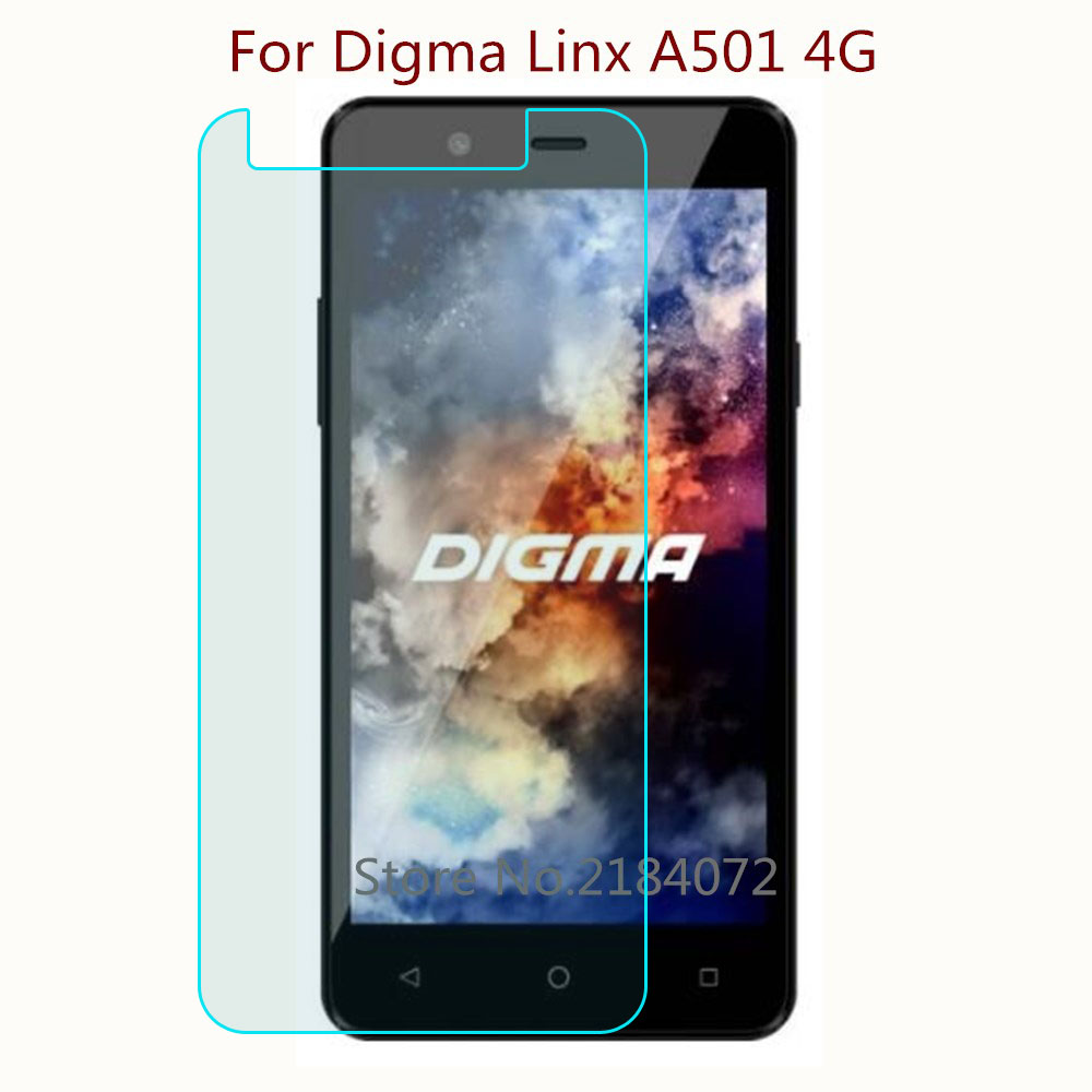 9H 2.5D Screen Protector Glass Phone For Digma <font><b>Linx</b></font> <font><b>A501</b></font> 4G Phone Tempered Glass SmartPhone Front Film Protective Screen image