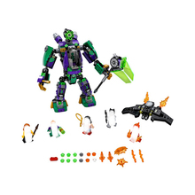 цена на 455PCS Super Heroes Batman Wonder Woman Lex Luthor Mech Takedown Building Blocks Bricks educational toy Compatible with Legoings