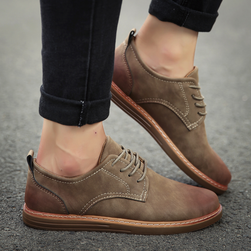 fashion leather casual shoes men comfortable leisure moccasins cheap dress male footwear work elegant boy oxford shoes for m (22)