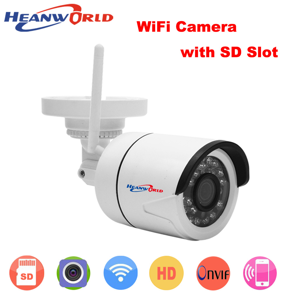 Video Surveillance Heanworld Wifi Camera With Microphone Ip Camera Hd 720p Sd Slot Home Security Camera Waterproof Surveillance Camera Outdoor