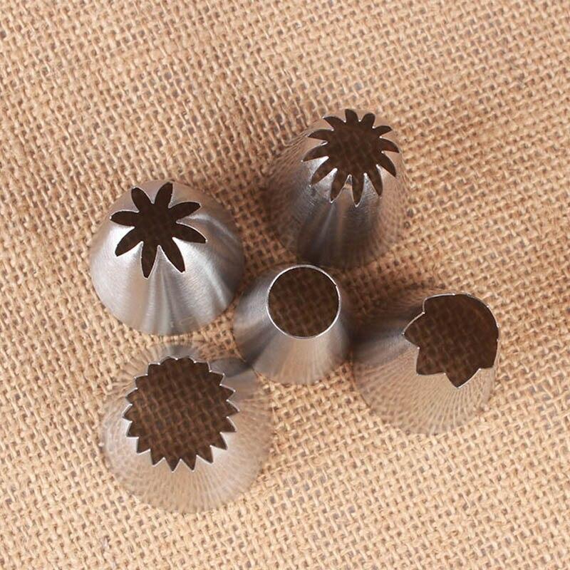 5 pezzi torte decorazione Set biscotti forniture glassa russa tubazioni ugello pasticceria gadget da cucina in acciaio inossidabile decorazioni fondente 2
