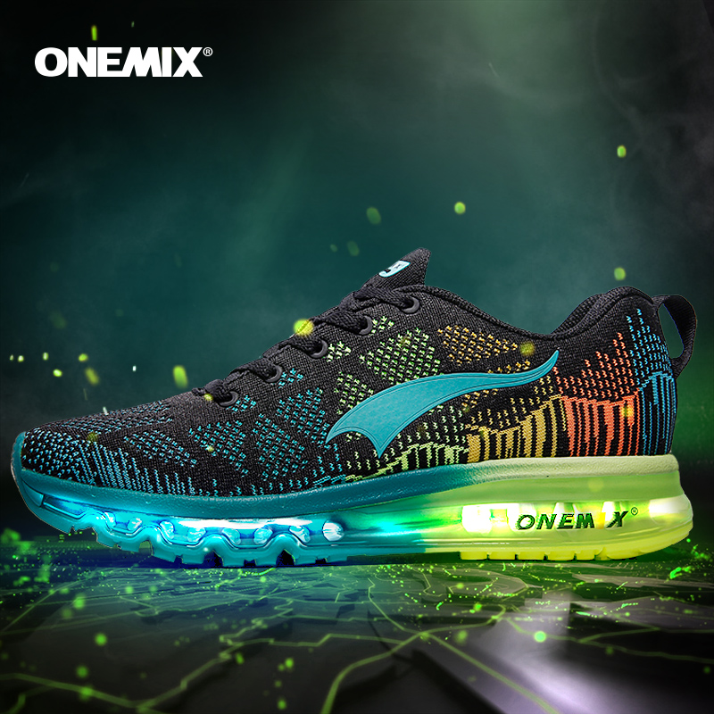 ONEMIX Man Running Shoes Men Nice Zapatillas Athletic Trainers Black Sports Shoe Air Cushion Outdoor Jogging