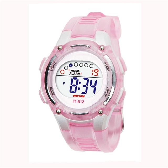 Children Boys Girls Swimming Sports Digital Waterproof Wrist Watch New Drop Ship