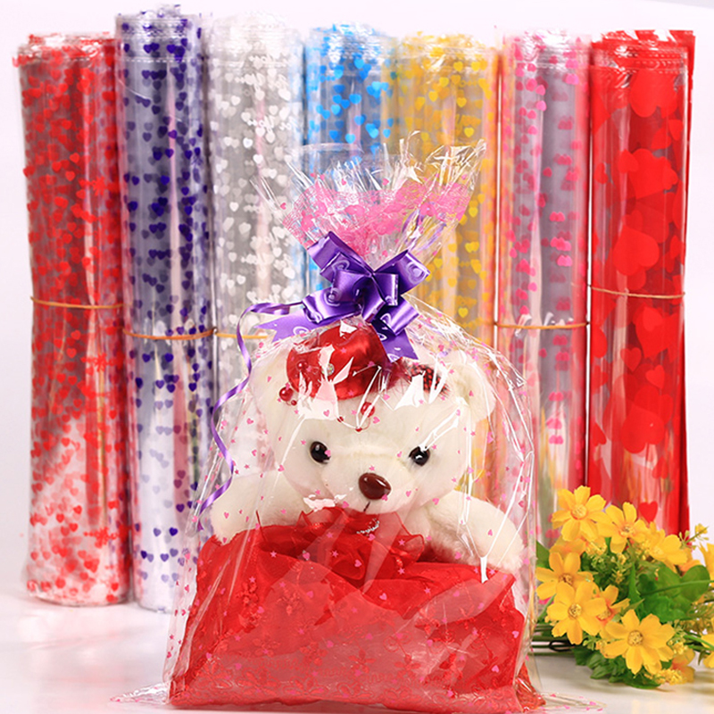 100pcs Cone Cello Empty Party Gift Sweet Treat Favor Flower Bags 37cm x 18cm MT