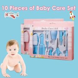10 шт. детский набор для ухода за здоровьем, портативный гребень для ухода за новорожденными, щетка для волос, набор инструментов, Детские кус...