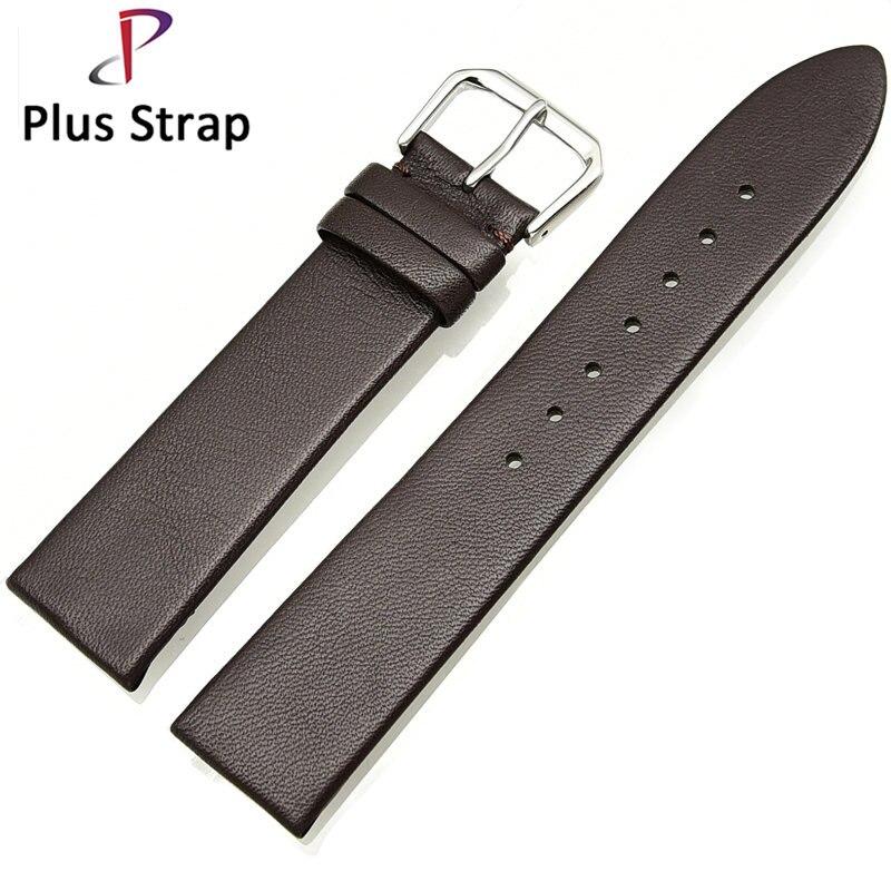 Brown Men Watch Strap Genuine Leather 14 16 18 20 mm Soft Calf Women Watchband Bracelet Belt Waterproof Pin Buckle survival nylon bracelet brown