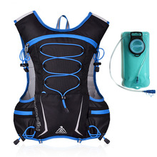 купить Cycling Backpack MTB 5L Bicycle Bag Outdoors Sport Backpacks Bike Bicycle Cycling Rucksack Bag+2L Water Bag недорого