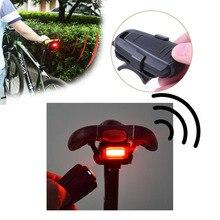 4 In 1 도난 방지 자전거 보안 알람 무선 원격 제어 경고 미등 잠금 워너 방수 자전거 램프 액세서리