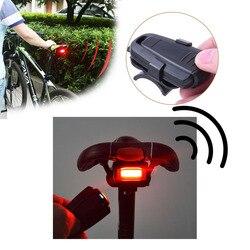 4 w 1 zabezpieczenie przed kradzieżą Alarm bezpieczeństwa bezprzewodowy pilot Alerter Taillights Lock Warner wodoodporna lampa rowerowa akcesoria|Blokady rowerowe|   -