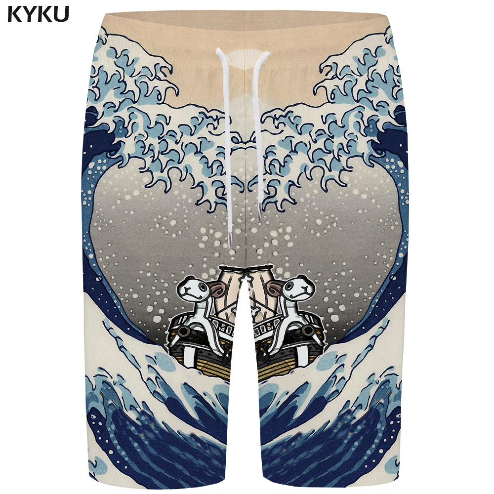KYKU Wave   Board     Shorts   Men Animal   Short   Pants Phantom Quick Silver Sheep 3d Printed Boardshorts Water Hip Hop Mens   Shorts   Casual