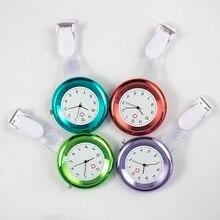 Красочные женские модные медсестры часы 8 цветов Круглый циферблат Кварцевые Доктор Медицинский Карманный Брелок Брошь-часы кулон