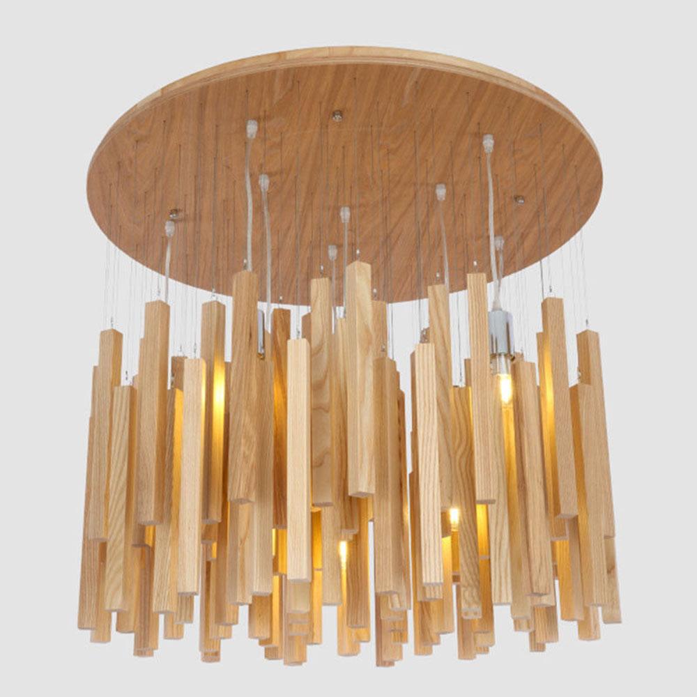 Modern Art Creative Wood Stick Suspension Pendant Light Lamp New for Reading Living Room Dinning Room Pendant Lamps B057|Pendant Lights| |  - title=