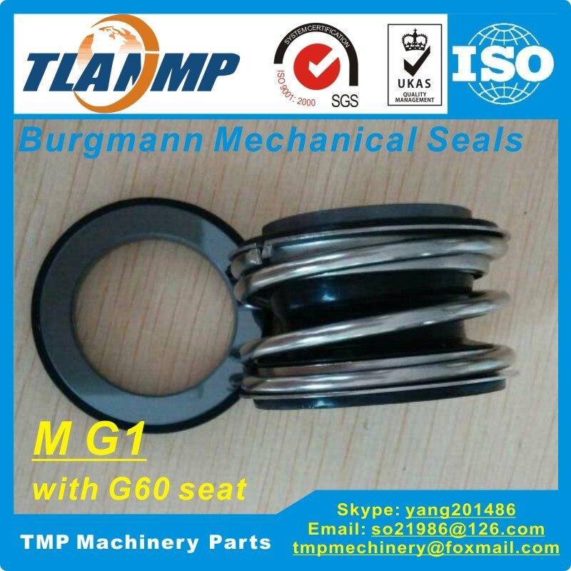 MG1-50 (MG1/50-G60) burgmann Garnitures Mécaniques pour Pompes à eau (Matériel-SIC/SIC/VITON) (G60 Tasse siège)