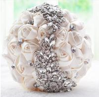 AYiCuthia crystal Wedding Bouquet Red Brooch bouquet wedding accessories Bridesmaid artifical Wedding flowers Bridal Bouquet S18
