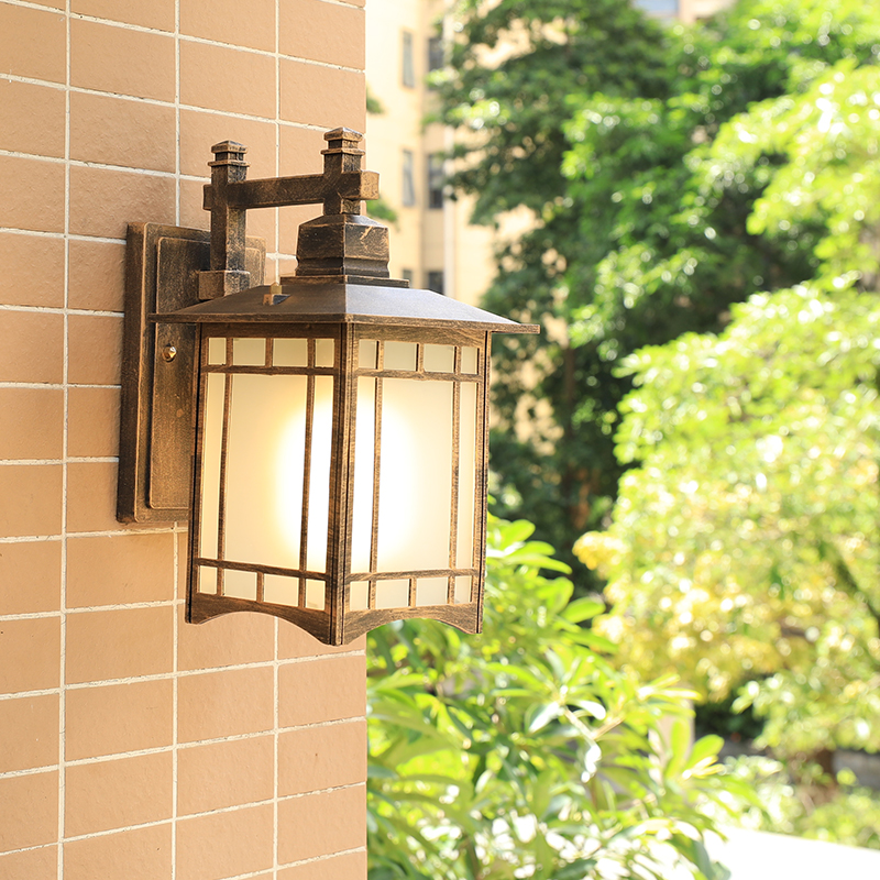 Chinese Antique Outdoor Waterproof Wall Lamp Villa Outdoor Courtyard Outdoor Lighting Balcony Aisle Front Door Exterior lights outdoor small column courtyard wall lamp post villa exterior wall lamp lu8141400