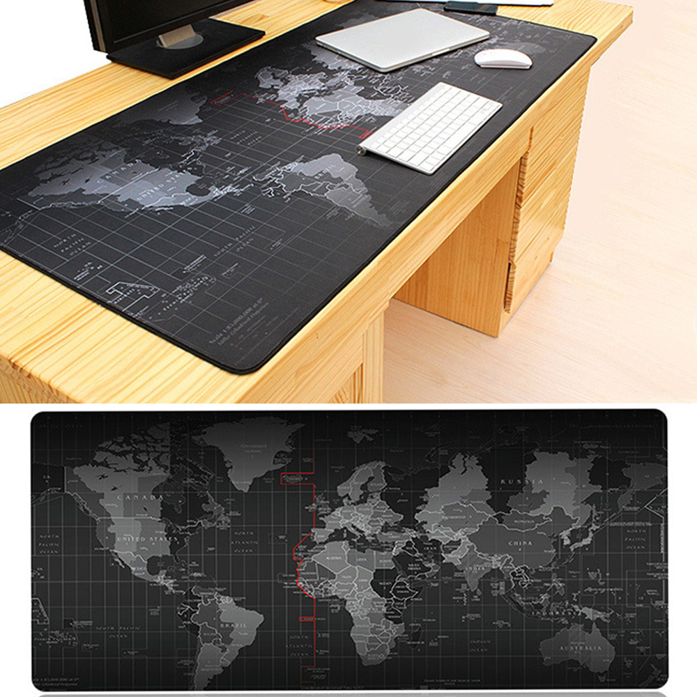 New Fashion Old World Map Mouse Pad gamer Mousepad Large Size Pad for Mouse Notebook Computer Locking Edge Gaming Mouse Mats hexgears large size led gaming mouse pad 780 5 355 mm knitted edge professional rubber bases 7 color usb port gamer mouse pad