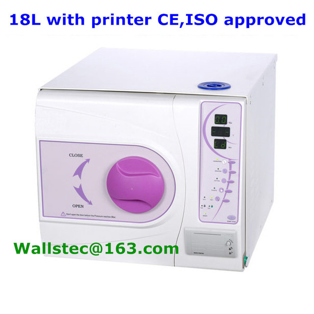 18L + printer Europe B class dental steam sterilization with CE and ISO13485 free shipping