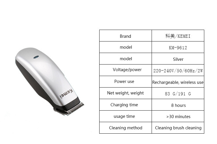 kemei KM-9612 Mini Electric Hair Clipper