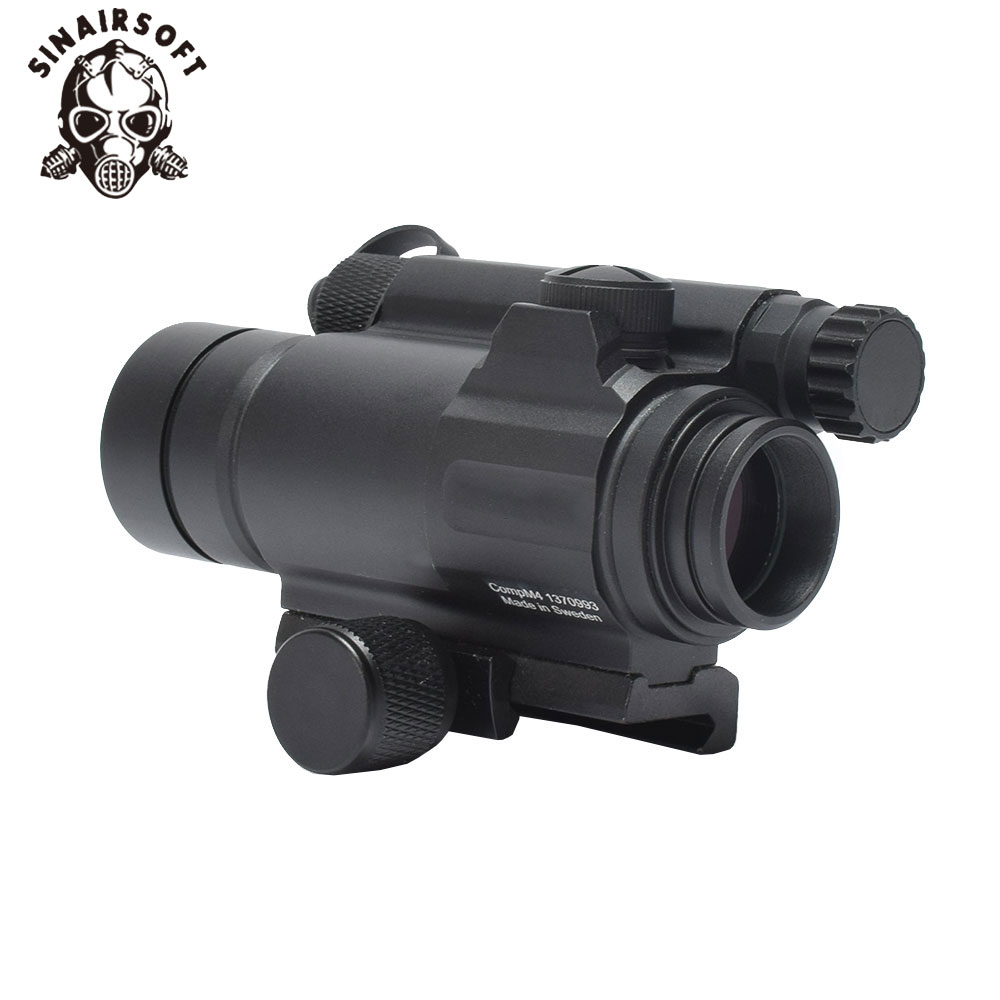 Tactical M4 1X33 Red Dot Collimating Sight With Red Illumination For Hunting Shooting Hunting-in Riflescopes from Sports & Entertainment    1