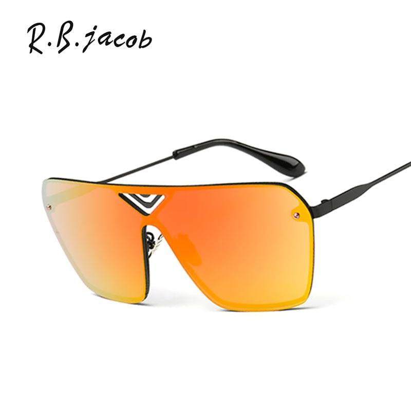 Square Cool Women Men Rimless Sunlgasses Male Fashion Metal Frame Lady UV400 Sun Glasses 2017 New Shield Mirror Oversized
