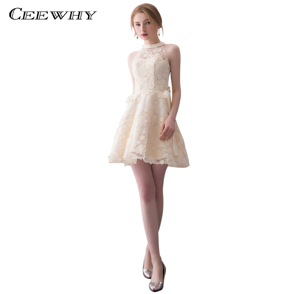 CEEWHY Short   Cocktail     Dresses   Lace   Dress   Elegant Party Formal   Dress   Homecoming Graduation   Dresses   Vestidos Coctel Mujer 2018