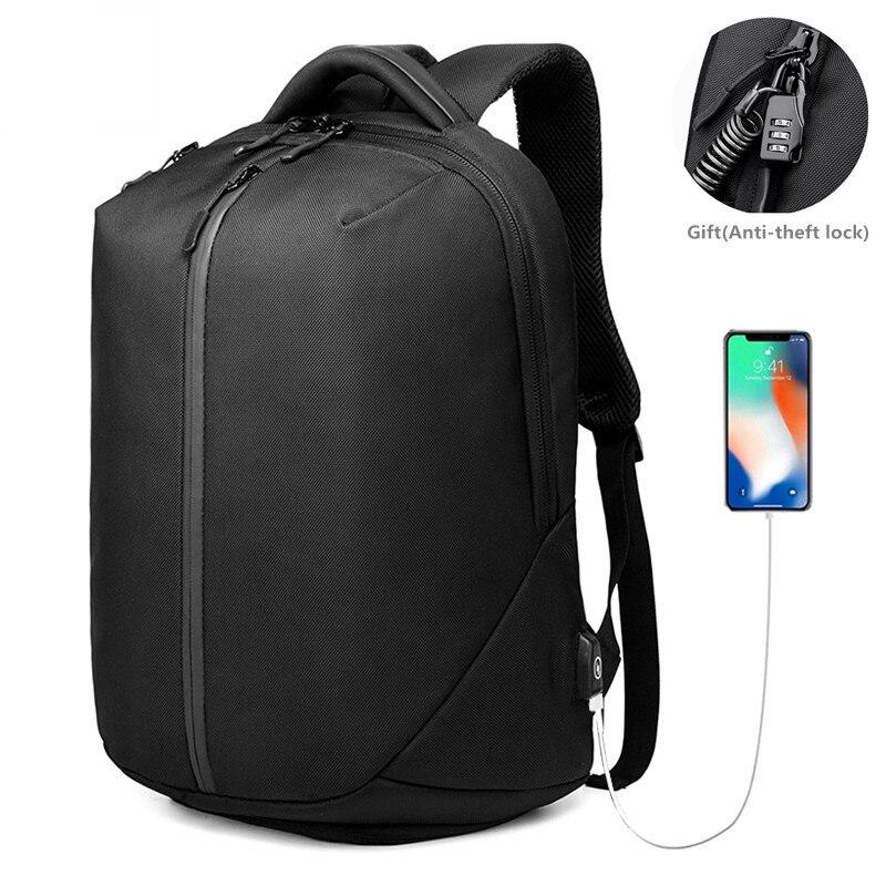 OZUKO laptop Backpack Men 1680D Oxford USB charging Travel Backpack Anti Theft Waterproof zipper Fitness bag Shoes Pocket NEW laptop bag