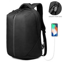 Рюкзак OZUKO для ноутбука, мужской рюкзак 1680D с usb зарядкой и защитой от кражи, водонепроницаемая сумка на молнии для фитнеса, обувь с карманом