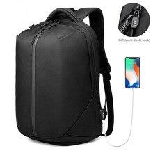 OZUKO laptop sırt çantası erkekler 1680D Oxford USB şarj seyahat sırt çantası Anti hırsızlık su geçirmez fermuar spor çantası ayakkabı cebi yeni