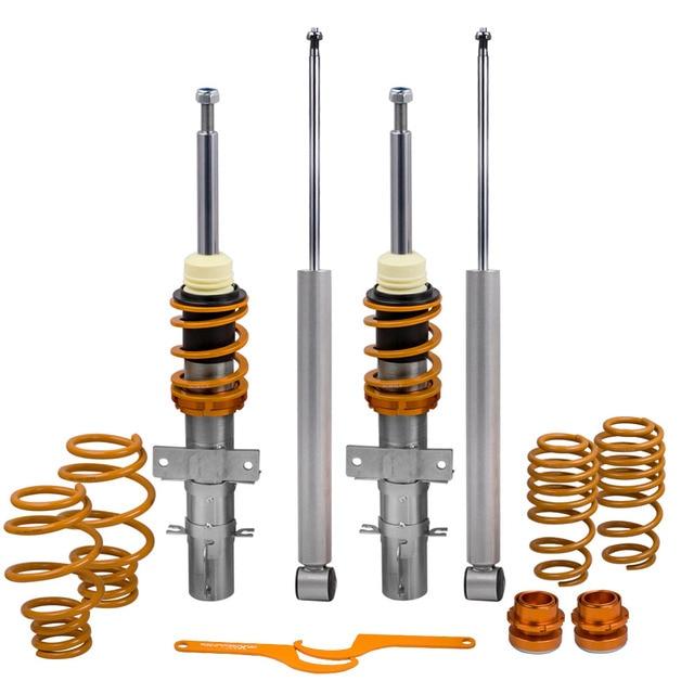 Coil Spring Coilovers Kit for Audi A2 8Z Volkswagen Gol Mk5 Skoda Fabia Mk2 5J for VW Polo 1.2/1.4/1.6/1.8/1.4TDI/1.9TDi