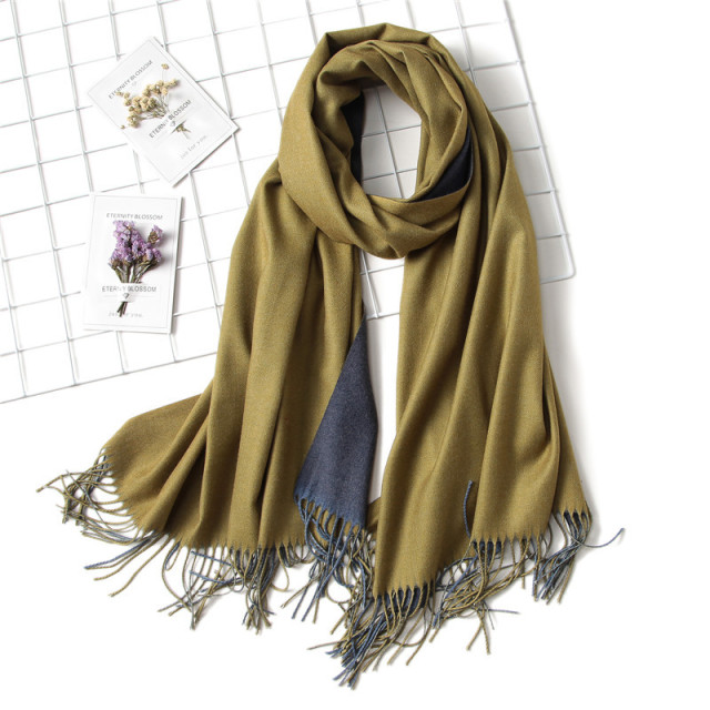 2018 winter women scarf fashion solid soft cashmere scarves for ladies pashmina shawls and wraps bandana female foulard Tassel 3