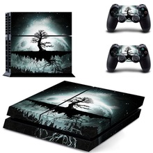 tree decal PS4 Skin Sticker For Sony Playstation 4 Console +2Pcs Controllers