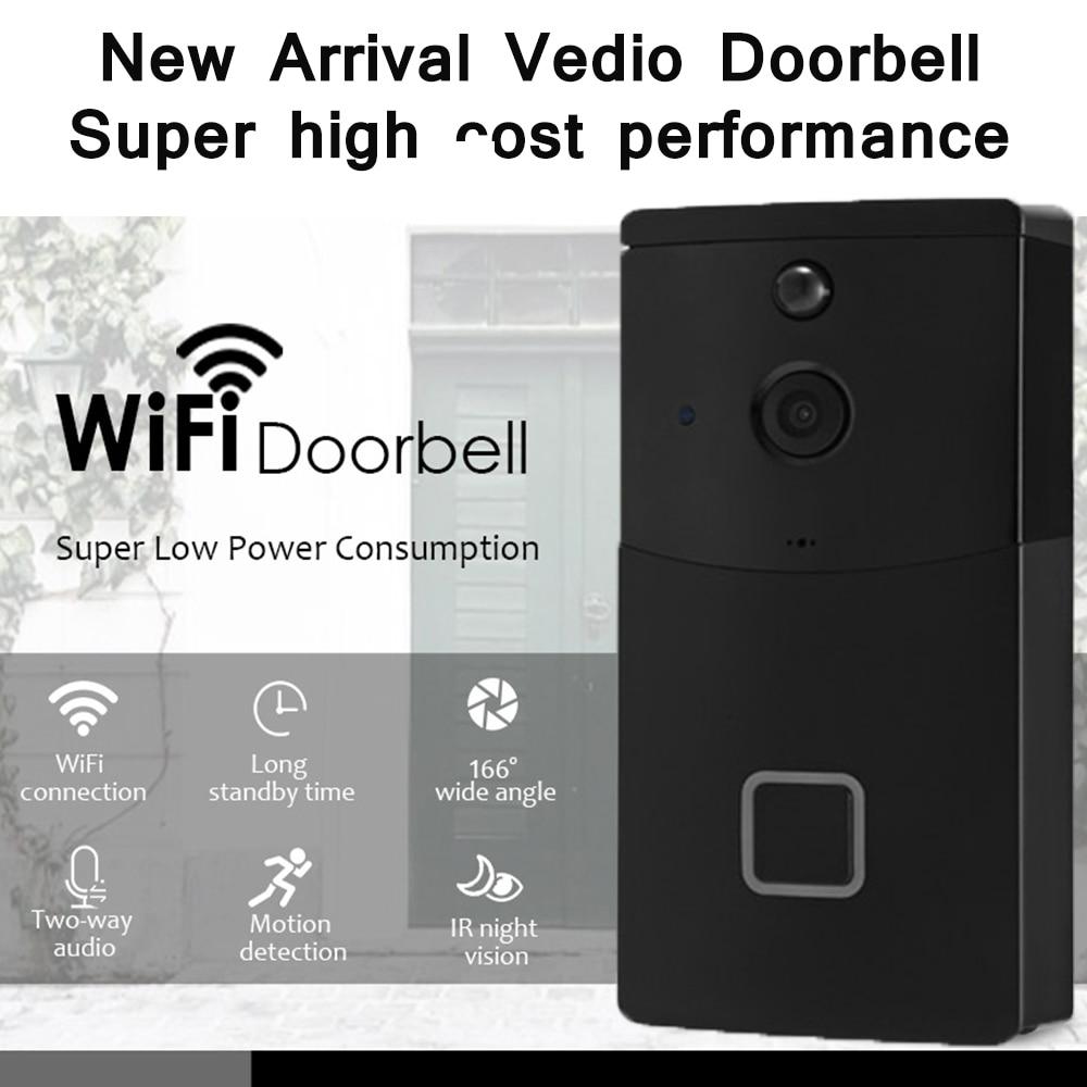 720P Wireless WiFi HD Video Doorbell Two-Way Audio Night Vision Motion Detection Smart Door Intercom 6 Month Standby Time720P Wireless WiFi HD Video Doorbell Two-Way Audio Night Vision Motion Detection Smart Door Intercom 6 Month Standby Time