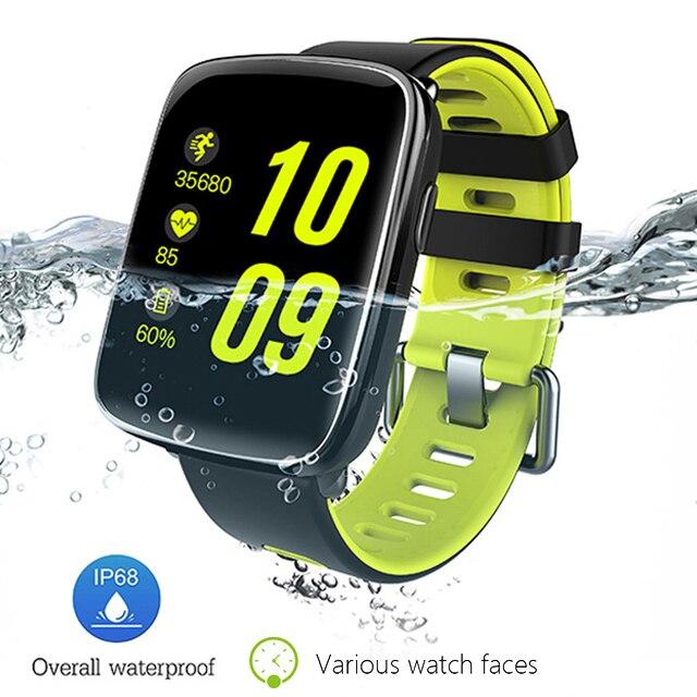 imágenes para Ip68 de natación/buceo smart watch mtk2502 ogs pantalla 2.5d arco pulsómetro smartwatch para apple android pk iwo 3/kw88/f69