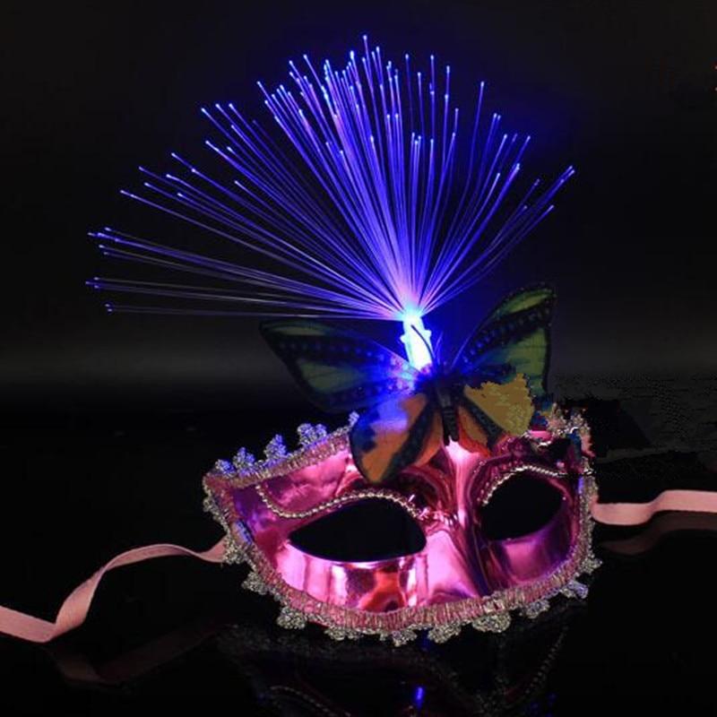Kvinnor Flickor Sexig LED Blinkande Butterfly Mask Glödande Ljus - Semester och fester - Foto 4