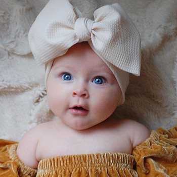Fit All Baby Large Bow Girls Headband Big Bowknot Headwrap Kids Bow for Hair Cotton Wide Head Turban Infant Newborn Headbands diy girls grosgrain ribbon bow headband kids head bands headdress big bowknot ties headwrap hair accessories newborn baby turban