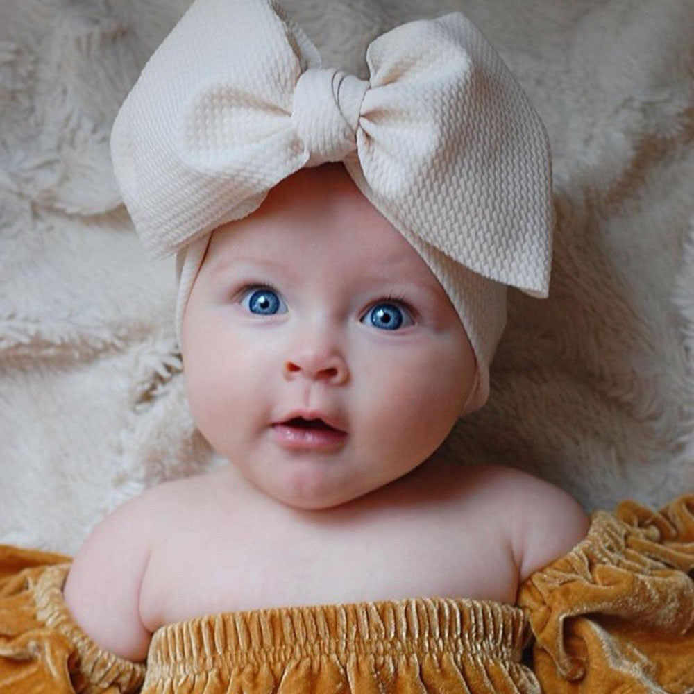 フィットすべての赤ちゃん大弓女の子ヘッドバンドビッグちょう結びheadwrap子供の毛の弓綿ワイドヘッドターバン幼児新生児ヘッドバンド
