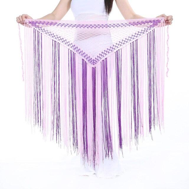 Multicolor Kwastje Buikdans Hip Sjaal Wrap Riem Tribal Haken