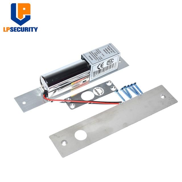US $9 49  LPSECURITY 12VDC 2 wire low temp timer Electric deadbolt Door  Lock/access control glass door electrical drop bolt locks-in Electric Lock