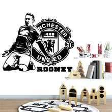 Manchester football Rooney Wall Sticker Art Modern Wall sticker Decor For Kids Rooms Decoration Waterproof Wall Art Decal rooney s conversations with friends м rooney