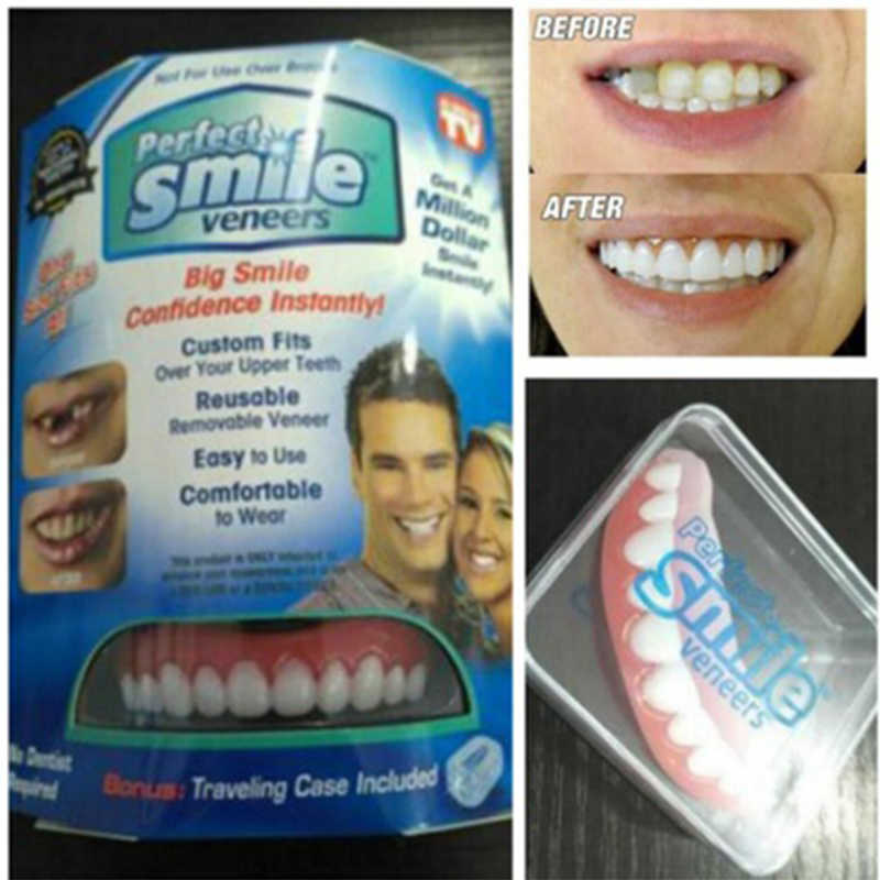 Perfect Smile Veneers Prothese Plakken Instant Tanden Flex Fit Druk Op Veneers Covers Size 1 Pcs Kleur Beige