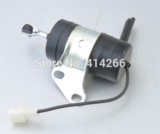 16851-60014 16851-60010 Fuel Stop solenoid for Kubota Mower Tractor Excavator RTV RTV900 16851 60010 16851 60011 16851 60014 fuel shut off solenoid for 052600 4531 052600 4530