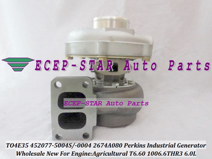 TO4E35 452077 452077-5004S 452077-0004 2674A080 Turbo For PERKIN S Agricultural Industrial Generator T6.60 1006.6THR3 6.0L