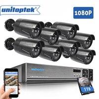 8CH 1080P 2MP AHD DVR CCTV System 3000TVL Outdoor Waterproof 8Pcs CCTV Camera Set HDMI AHD